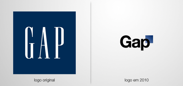 logo Gap original vs. logo Gap 2010